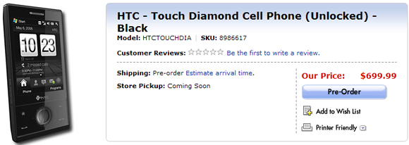 Best Buy HTC Touch Diamond