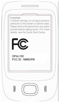 HTC Opal hits FCC