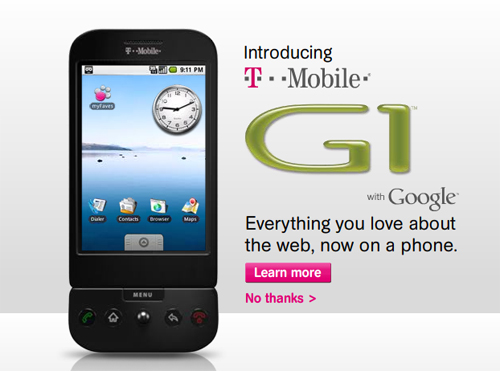 T-Mobile G1 launches