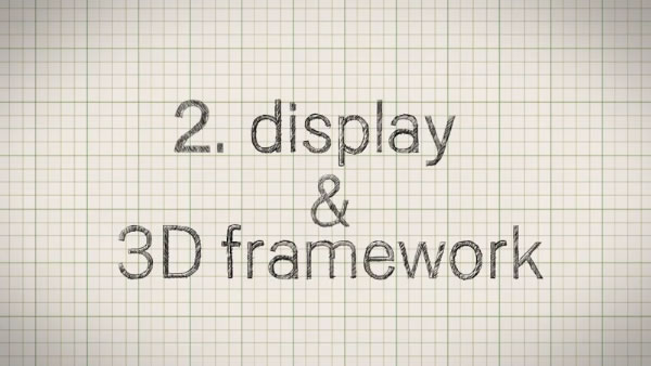 display and 3d framework