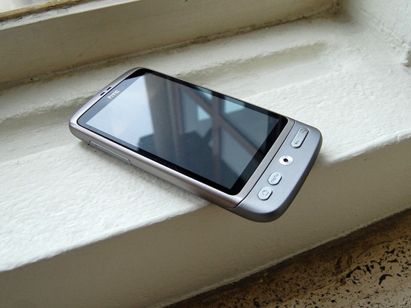 Silver HTC Desire heading to BelCompany