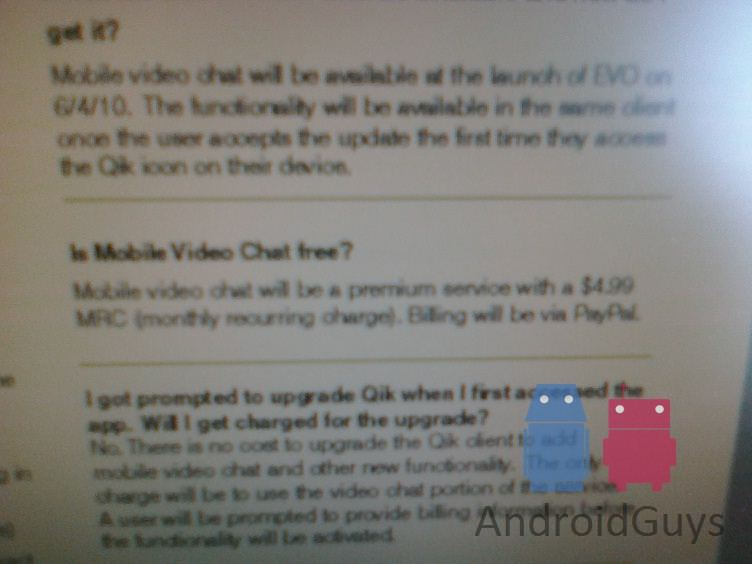 Qik to charge $5 monthly fee for video calling