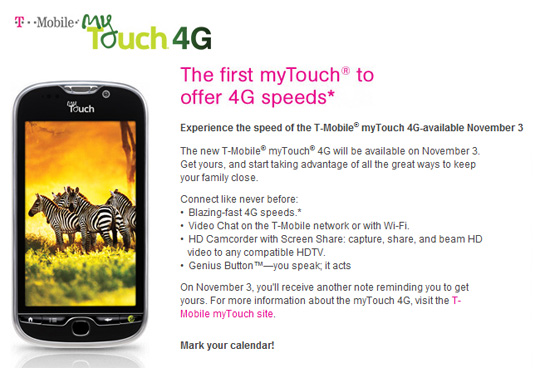 T-mobile myTouch 4G speeds