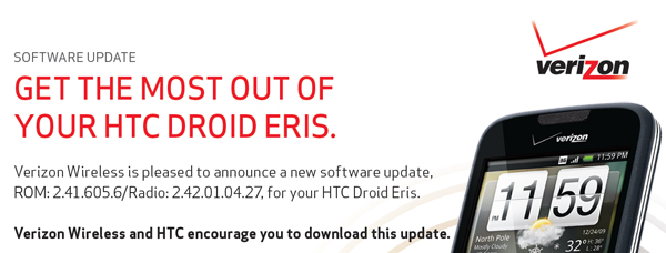 New DROID Eris update squashes bugs and updates a few features