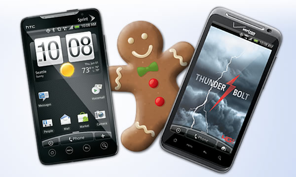 HTC Evo 4G and HTC Thunderbolt Android 2.3 Gingerbread Updates
