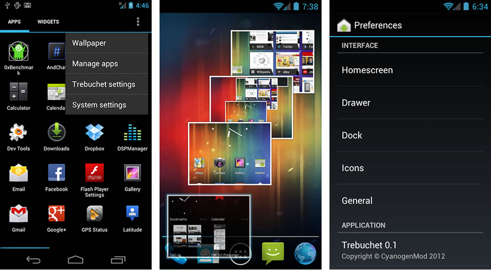 Trebuchet Launcher (official CM9 Launcher) alpha build released for Android 4.0.3