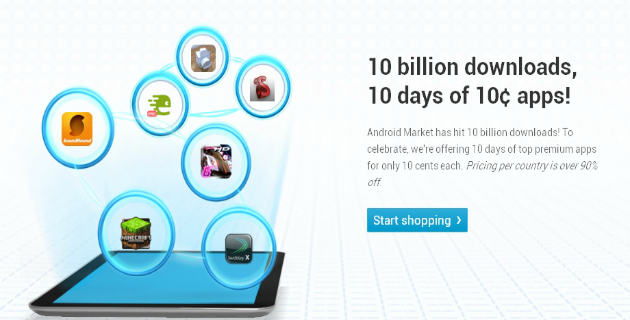 Google celebrates 10 billion app downloads with ten cent app promo: day 9