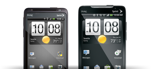 Sprint releases software updates for HTC EVO 4G and HTC EVO Design 4G
