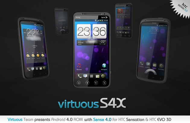 VitruousS4X ROM ports HTC Endeavor RUU to the HTC Sensation and HTC EVO 3D
