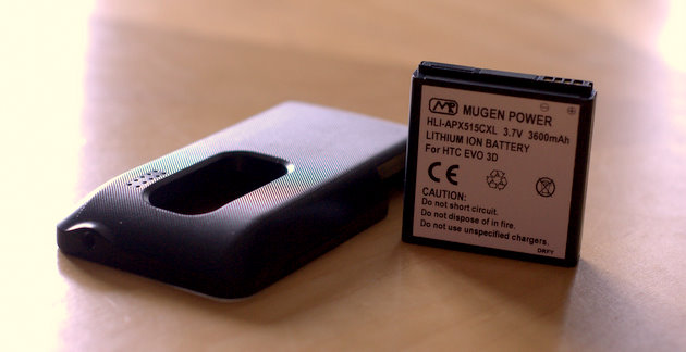 Update: Win a Mugen Power 3600 mAh extended battery for the HTC EVO 3D