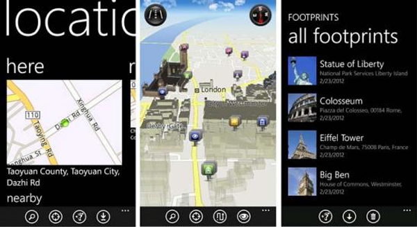 Windows Phone Location update delivery offline turn-by-turn navigation to HTC phones