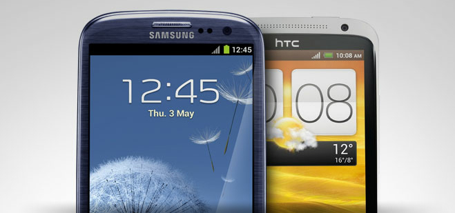 The HTC One X and Samsung GSIII go head to head in Vellamo 2.0 benchmark tests