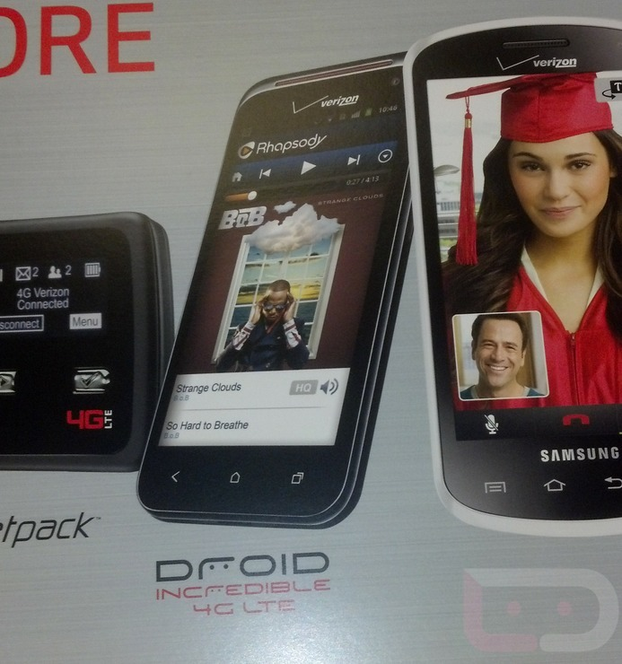 Official HTC DROID Incredible 4G LTE promotional material shows up at Verizon stores