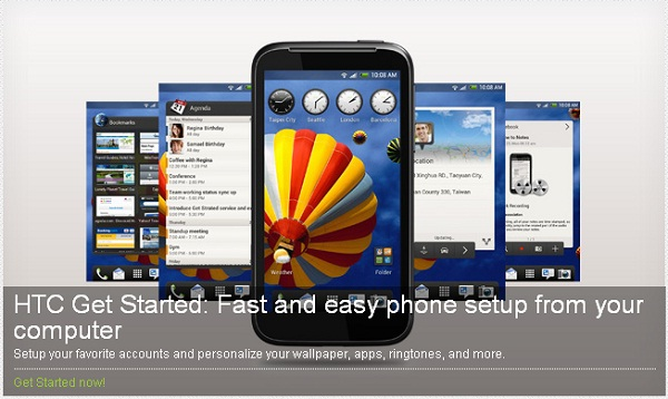 Configure your Android phone from the cloud using HTC Get Started