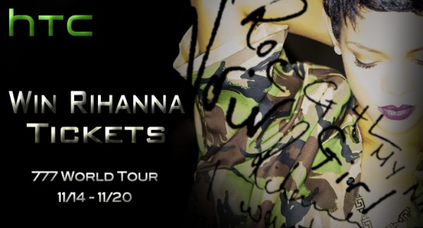 HTC announces the '777 Tour' starring Rihanna and offers you a chance to be there!
