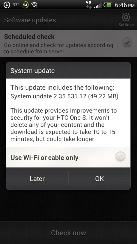 HTC One S update patches security still no Jelly Bean