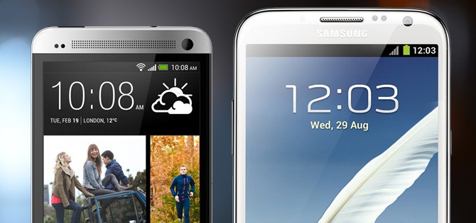 HTC One versus Samsung Galaxy Note II – spec showdown