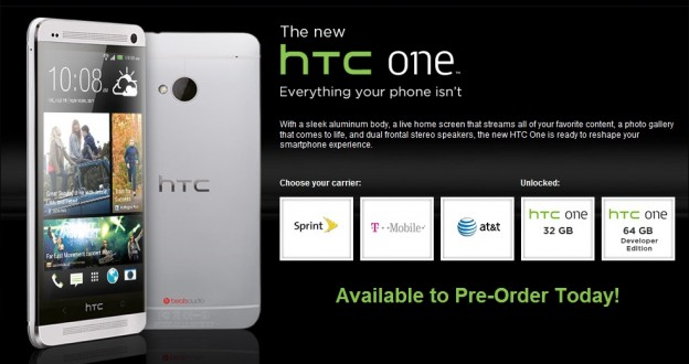 HTC One carriers