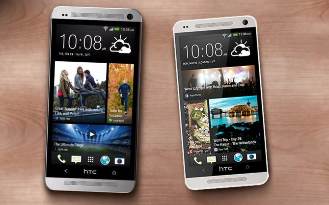 HTC M4/One Mini sized up against the HTC One