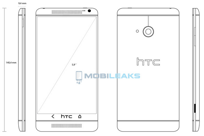 HTC T6 sketch and specs hint at an HTC One Max