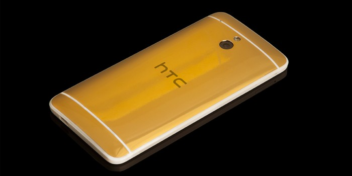 Gold HTC One Mini Now Available at Goldgenie