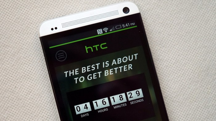All new HTC One launch event live stream countdown goes up on htc.com