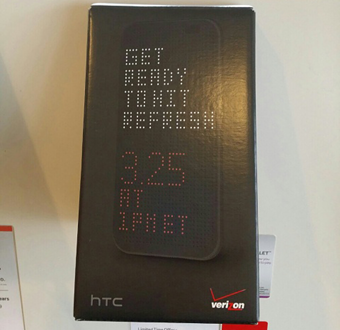 Verizon promo for the all new HTC One suggests devices will be in stores on March 25