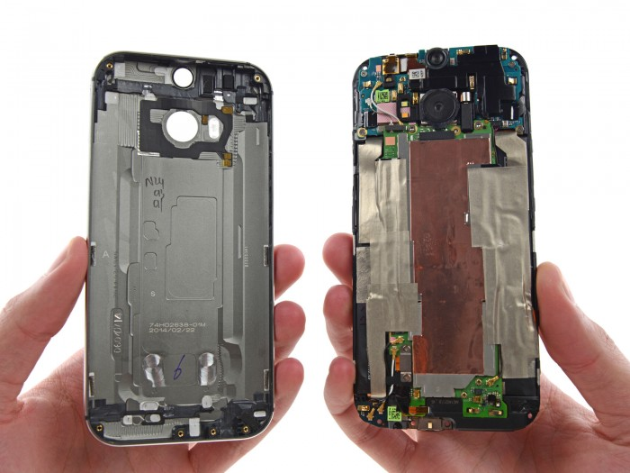 Video: HTC One (M8) gets broken down to its components, given a low repairability score