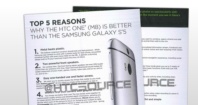 Exclusive: HTC training material shows why the One (M8) outclasses the Samsung Galaxy S5