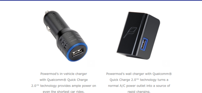 Qualcomm Quick Charge 2.0 chargers by Powermod now available