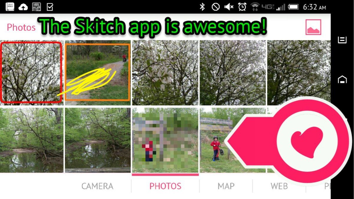 Skitch app with edits