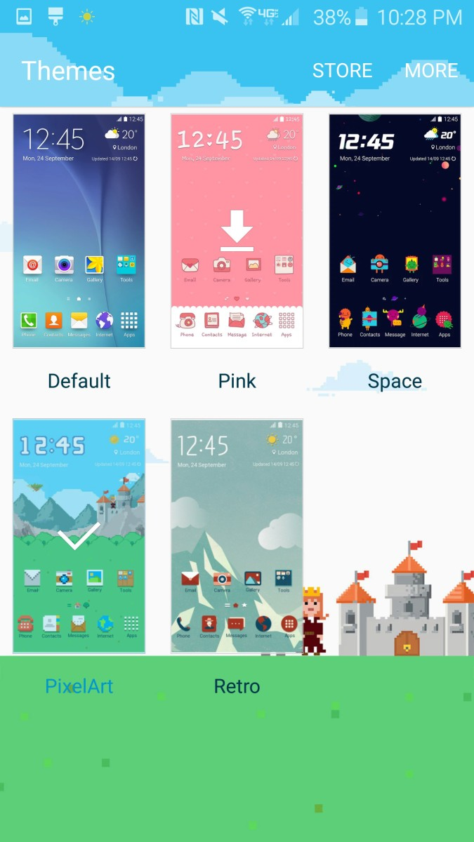 Samsung Theme Downloaded