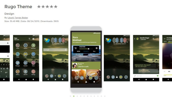 HTC Theme of the week: Rugo