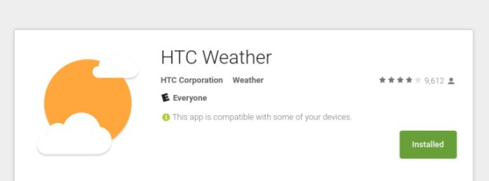 HTC Weather app gets bug fixes