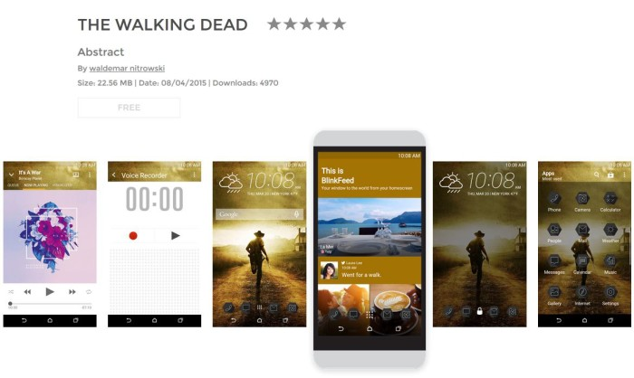HTC theme of the week: The Walking Dead
