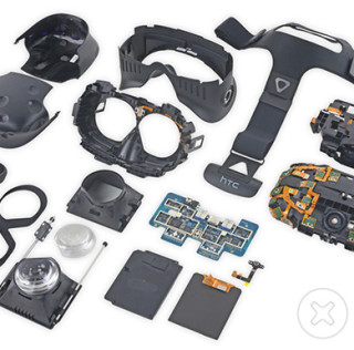 This is what a disassembled HTC Vive looks like
