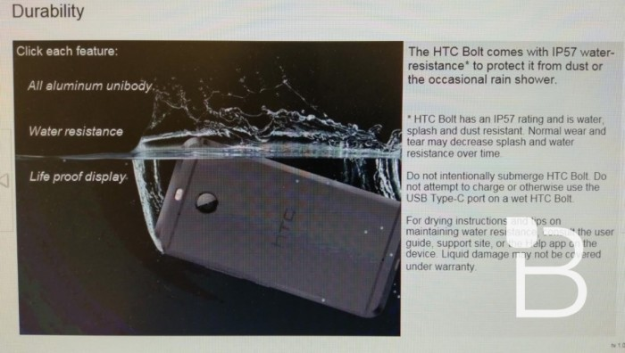 HTC Bolt heading to Sprint on Nov 11 with 5.5-inch QHD display, IP57 water resistance