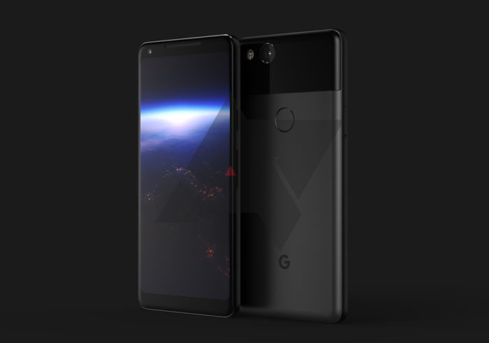 Image shows off the 2017 Pixel XL with it's 'squeezable' metal design