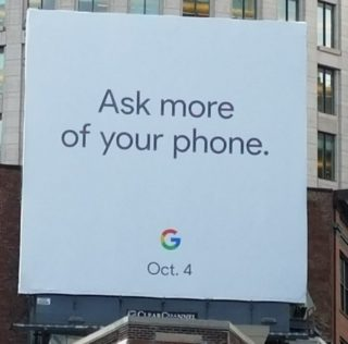 Billboard reveals Pixel 2 will to be unveiled on October 4