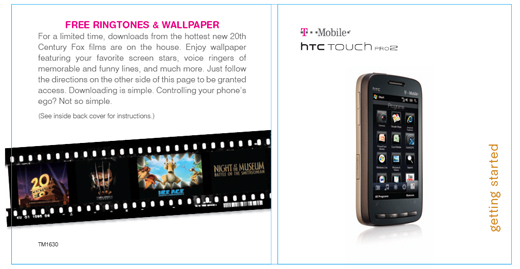 T-Mobile Touch Pro2 support page leaks Quick Start guide