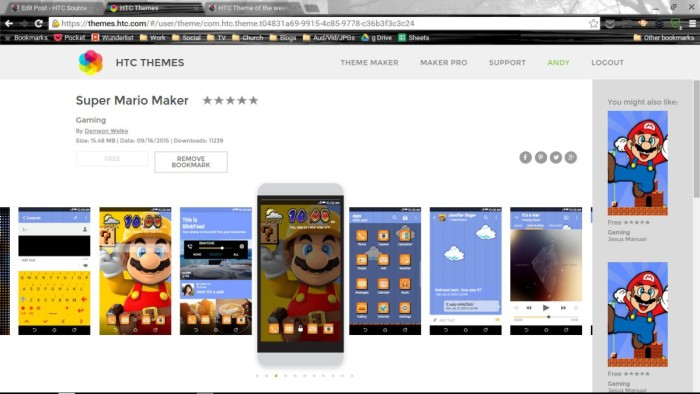 HTC Theme of the Week: Super Mario Maker – HTC Source